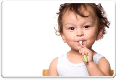 toddler brushing